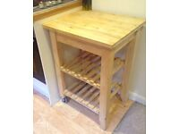 Wooden Butcher's Block Kitchen Trolley
