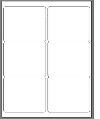 600 Blank 4 X 3 13 White Address Laser Return Mailing Labels 100 Sheets
