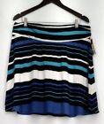 Club Wear Striped Plus Size Skirts for Women