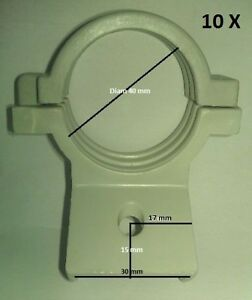 10 x Single LNB 40mm Bracket Holder Mount Satellite Dish Antenna Universal