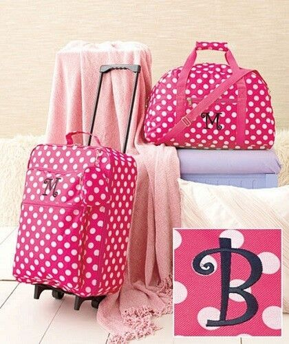 Kids Luggage Sets for Girls Set Pink Rolling Suitcase Duffel Bag ...