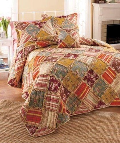 country quilts ebay. Black Bedroom Furniture Sets. Home Design Ideas