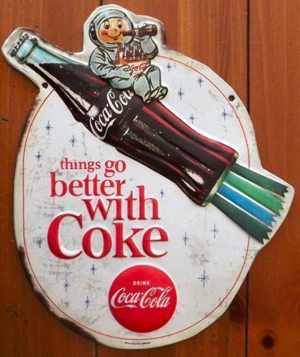 vintage coca cola metal signs ebay. Black Bedroom Furniture Sets. Home Design Ideas