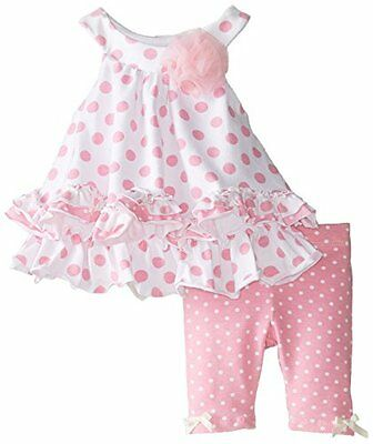 baby girl dress and leggings - pink ruffles, adorable size 24months - BNWT