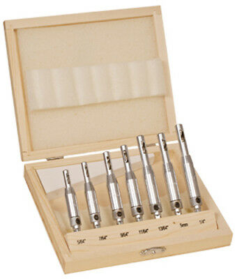 - 7pc HSS Self Centering Align Wood Drill Bit Set Hinge Door Cabinet 5/64 to 1/4