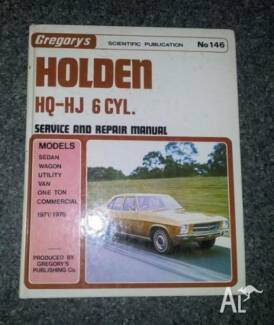 Gregory Holden HQ HJ 6 Cylinder Service and repair manual Pasadena Mitcham Area Preview