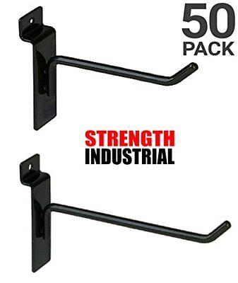 50 New Slatwall Hooks Bundle 4 6 -25 Each- Black