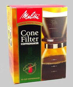 melitta manual 10 cup cone filter coffee maker cm 10 6 55437640619 ebay. Black Bedroom Furniture Sets. Home Design Ideas