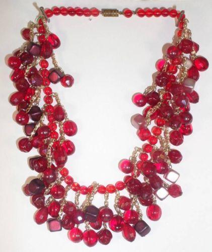 Chunky Red Bead Necklace Ebay