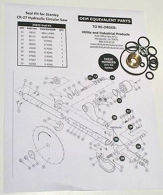 Seal Kit - Stanley Cr-27 Hydraulic Circular Saw Seal Kit 29829 Pack Of 10