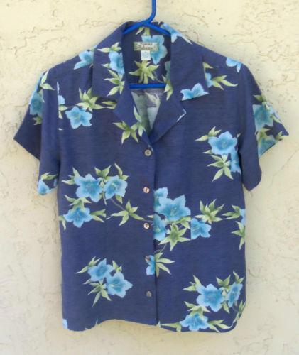 Tommy Bahama Women 39 S Hawaiian Shirt Ebay