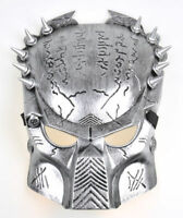 Alien Vs Predator Warrior Collector Silver Full Face Mask