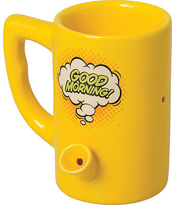 8oz. Ceramic Water Pipe Mug - Good Morning