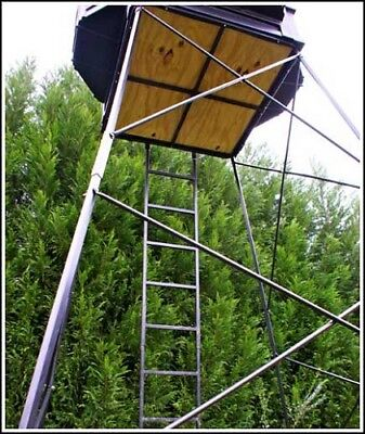 Hughes HP-67055 ADJUSTABLE 5'-10' Hunting Tower for 4x4 Box Blind (Tower Only) Blind 10 Tower