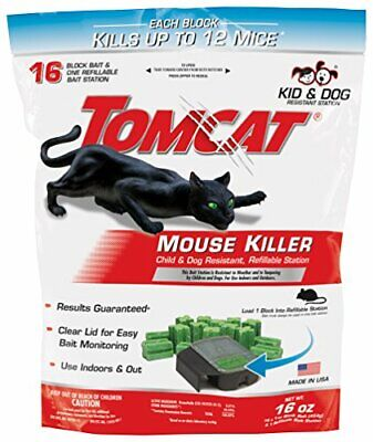 Tomcat Mouse Killer Refillable Station Includes 1 Bait Station with 16 1-oz. ...