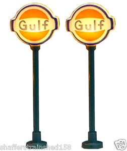 Model-Power-8578-Lighted-Gas-Station-Signs-Gulf-N-MIB