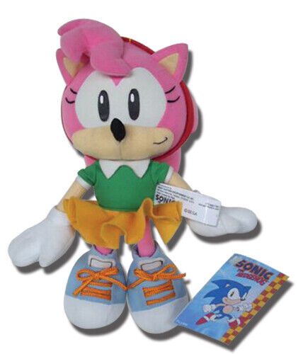 "GENUINE Sonic the Hedgehog Classic Amy 9"" plush GE-7053"