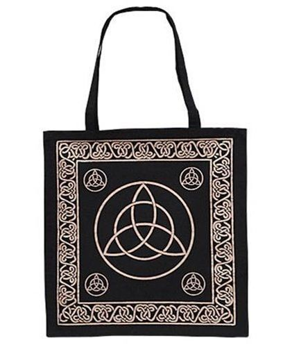 Black and Gold Celtic knots Triquetra TOTE Wicca Pagan Bag FREE SHIPPING !!! WOW