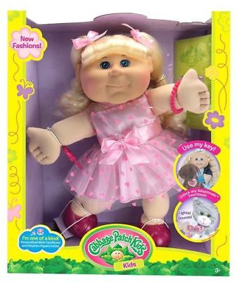 "Cabbage Patch Kids Blonde Kid Pink Heart Dress Fashion Baby Doll, 14"" BNIB segunda mano  Embacar hacia Spain"