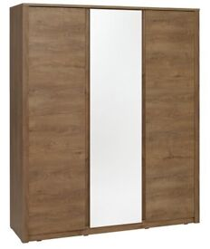 Oak Wardrobe with mirror
