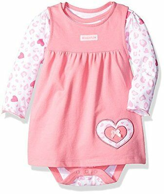 BON BEBE Baby Girls' 2 Piece French Terry Jumper Set with Longsleeve