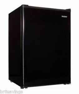 Haier 2.7 cu ft Refrigerator Black Compact Fridge Freezer Mini Dorm Cooler NEW