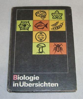 DDR Lehrbuch Schulbuch Biologie in Übersichten Volk und Wissen Verlag 1975