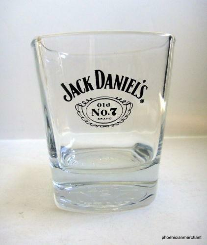 jack daniels square glasses ebay. Black Bedroom Furniture Sets. Home Design Ideas