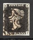 Handstamped Great Britain Victoria Penny Black Stamps