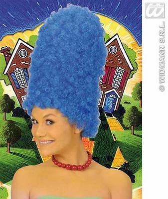 Ladies Tall Blue Beehive Wig Marge Simpson Pantomime Dame Fancy Dress (Marge Simpson Wig)