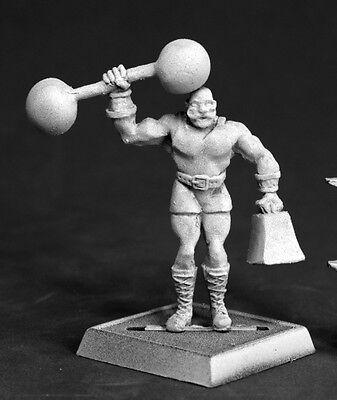 Herq Circus Strong Man Reaper Miniatures Chronoscope RPG Weightlifter Modern - Circus Strongman