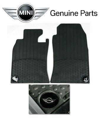 Mini Cooper R50 R53 02-06 Front All Weather Rubber Floor Mats Set Genuine OEM