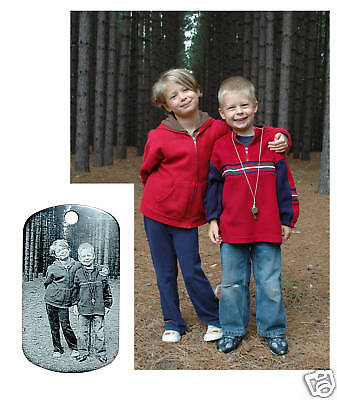 Personalized Photo (Personalized Laser Engraved Dog Tag - Custom Photo)