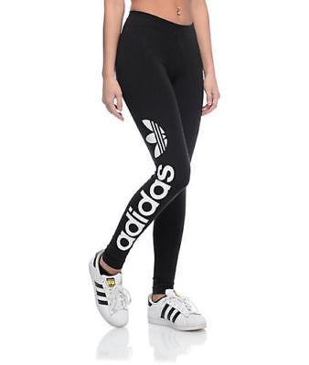 Adidas Originals Damen Linear Leggings Damen Fitness-Studio Hosen Schwarz ()
