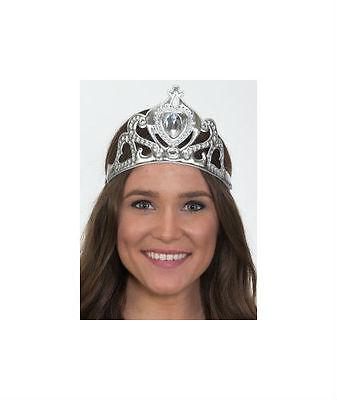 Princess Crown Costume (Womens Princess Tiara Headband Soft Fabric Elastic Band Costume Queen Crown)
