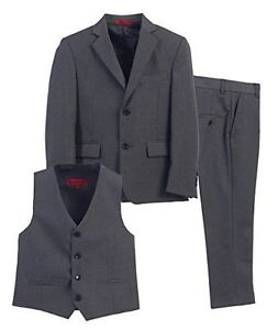 4 Piece Gioberti Little Boys Formal Suit, Vest, Pants Set