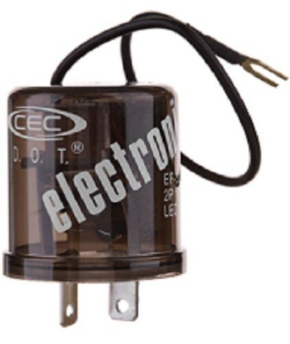 CEC EF32RL Electronic Turn Signal Flasher Relay, LED Compatable, 2 Grounds, 12V