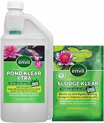 Envii Sludge and Pond Klear Xtra - Pond Treatment Pack - targets unwanted