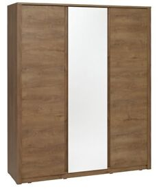 Wardrobe with mirror wild oak (delivery available)