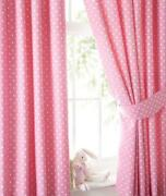 Girls Pink Curtains