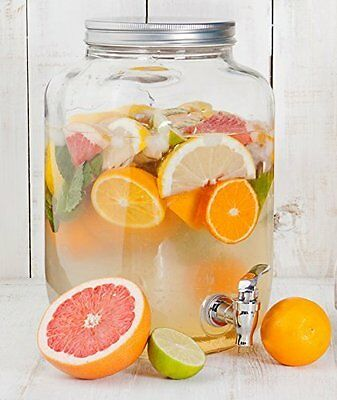 Estilo 2 gallon Glass Single Mason Jar Beverage Drink Dispenser With Leak Free