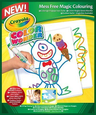 NEW Crayola Color Wonder Drawing Paper30 Sheets MessFree Colouring Free Shipping