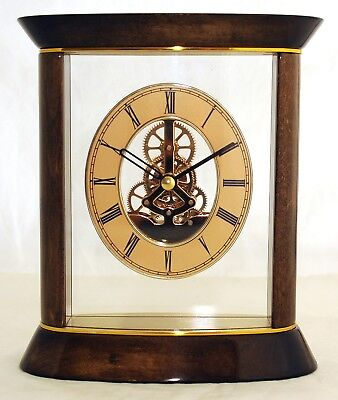 Tischuhr Kaminuhr ATMOS goldbraun Standuhr Uhr Schreibtisch Wohnzimmer günstig
