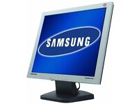 "Samsung 19"" LCD Flat Screen Monitor for PC for Sale (Turns-On but Signal Issue)"