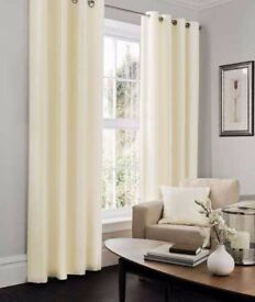 Luxury Silk Look Fully Lined Eyelet Ready to Hang Curtains & Matching Tie Backs by Gaveno Cavailia