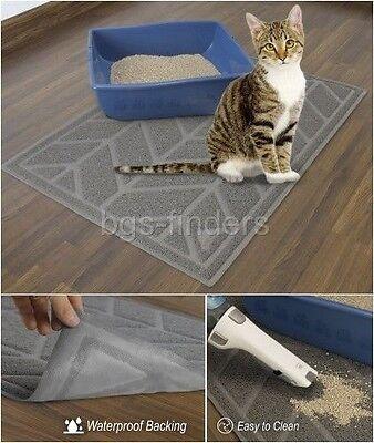 Cat Litter Box Mat Small Pet Dog Food Tray Extra Large Rectangular Cleaning Mats