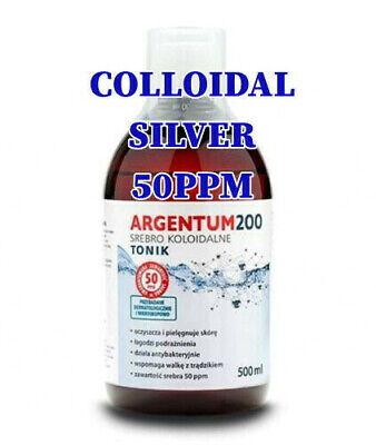 COLLOIDAL SILVER 50ppm 500ml ***VERY STRONG***UK SELLER