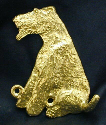 WELSH TERRIER Hook in Bronze