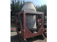Large Static Concrete Mixer with Hydraulic Power Pack. Capacity 4.3m3.