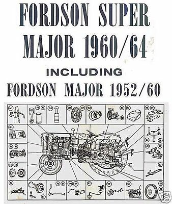 Fordson Major Super Major Tractors Parts List Manual 1952-1964 Multilingual Cd